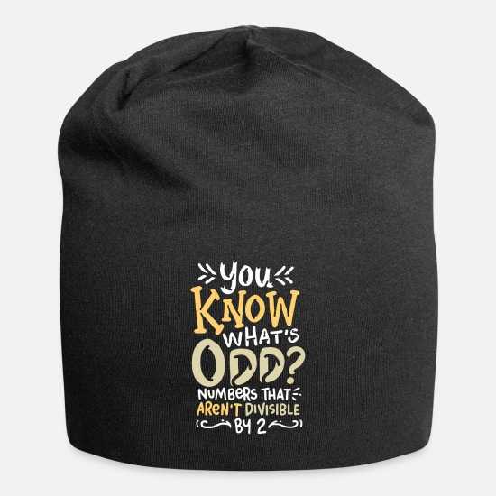Statistics Caps - You Know What's Odd Maths Pun - Beanie black