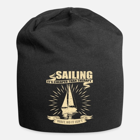 Lake Caps - Sailing Sailboat - Beanie black