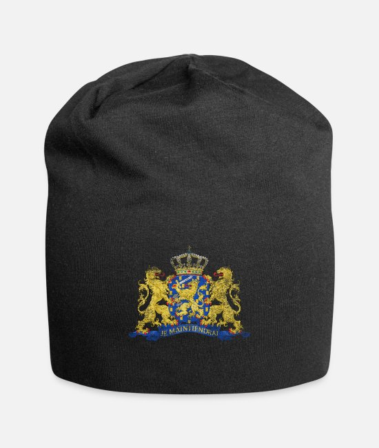 Travel Bug Caps & Hats - Dutch Coat of Arms Netherlands Symbol - Beanie black