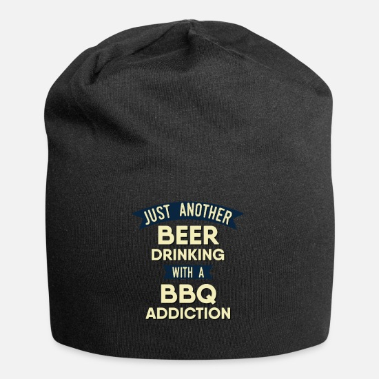Smoker Caps - Pitmaster BBQ Barbecue food grill Put my meat in - Beanie black