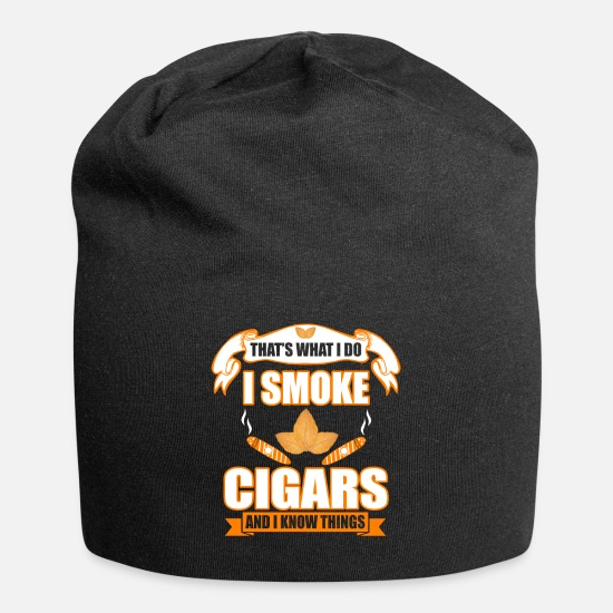 Gift Idea Caps - Cigar Gift and T-Shirt - Beanie black