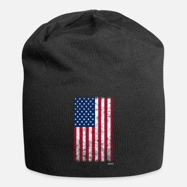 American Flag In Distress American Flag Distressed - Beanie