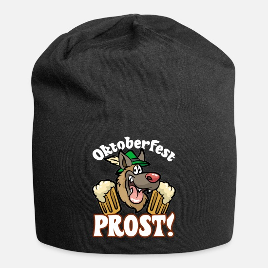 Leather Pants Caps - PROST German Beer Oktoberfest Bavarian Tradition - Beanie black
