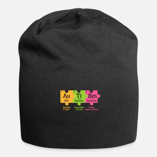 Autism Caps - Autism Awareness - Beanie black