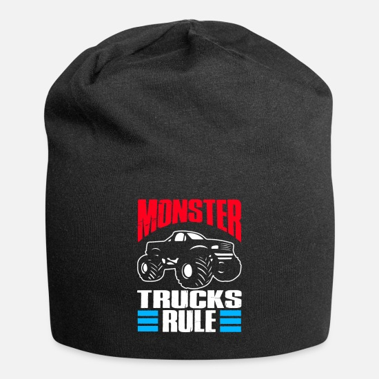 Monster Truck Caps - Monster Trucks Gift | Big Trucks - Beanie black