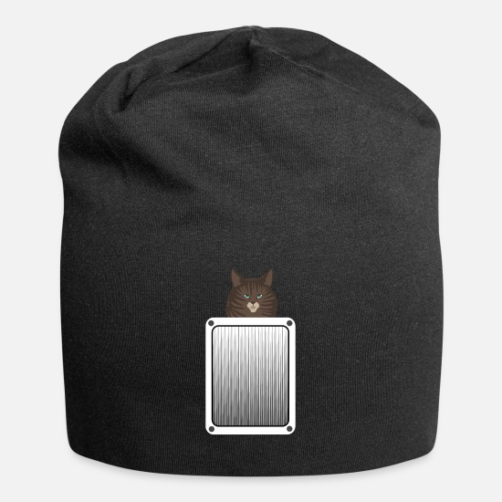 Gift Idea Caps - cat - Beanie black