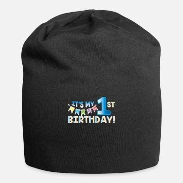 Birthday First 1. birthday baby boy girl gift idea funny - Beanie