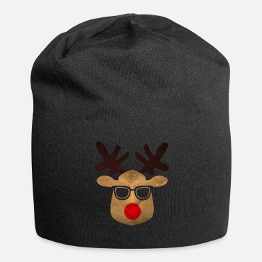 Ugly Xmas Ugly Xmas ugly reindeer with glasses - Beanie