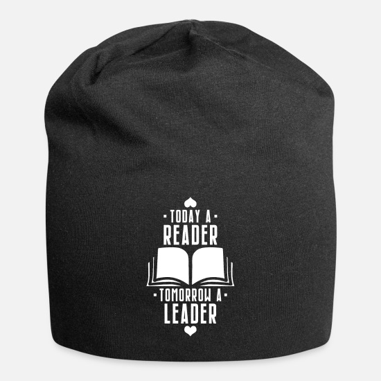 Leadership Caps - Today Reader |Tomorrow Leader | Leadership Quote - Beanie black