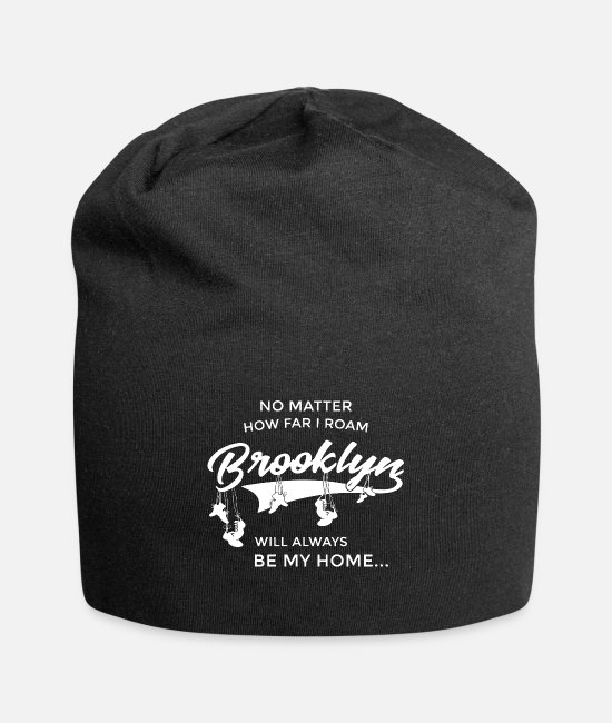 Affair Caps & Hats - no matter how far I roam brooklyn will always be m - Beanie black