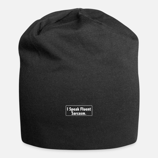 Birthday Caps - i speak fluent sarcasm 01 - Beanie black