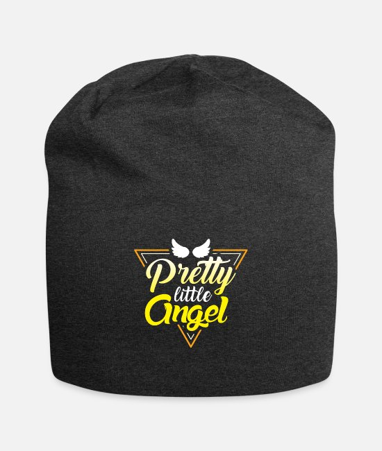 Angel's Wings Caps & Hats - Pretty Little Angel Wings - Beanie charcoal gray