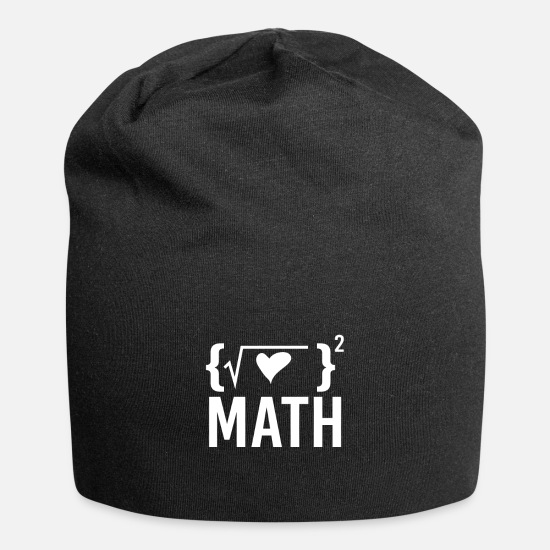 Teacher Caps - Math gift math teacher - Beanie black