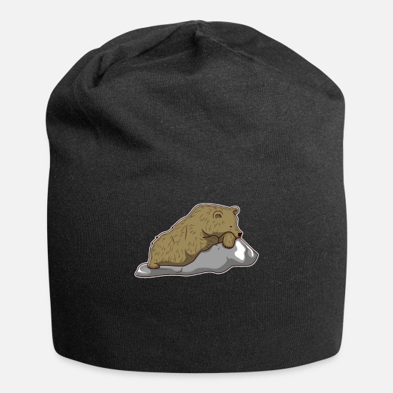 Gift Idea Caps - brown bear bear animal zoo animal park jungle gift - Beanie black