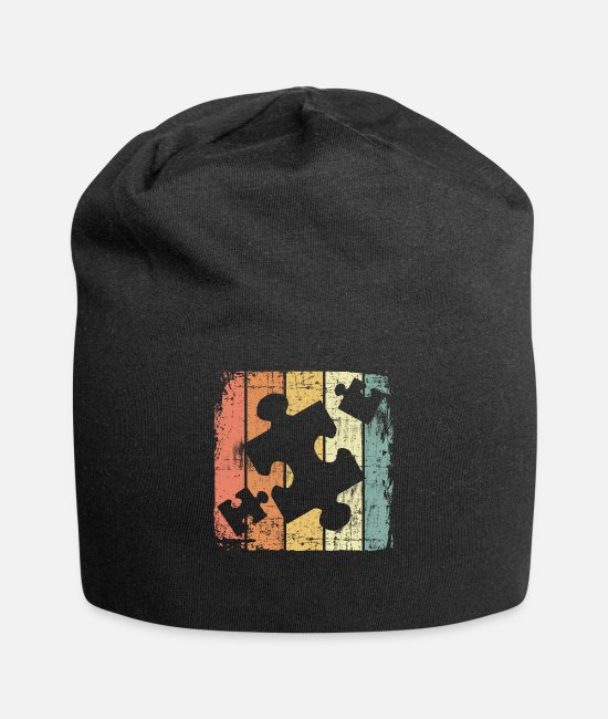 Logbook Caps & Hats - Puzzle - Beanie black