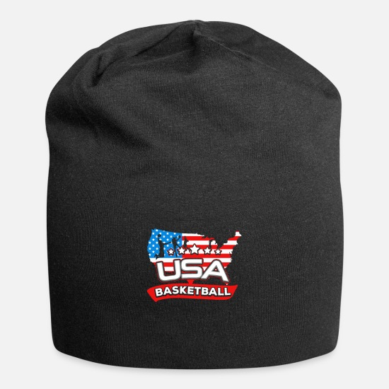 Birthday Caps - USA Basketball Team Gift I US American Flag Jersey - Beanie black