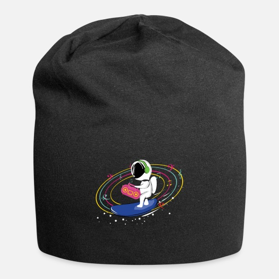 Space Ship Caps - Astronaut Radio Universe - Beanie black