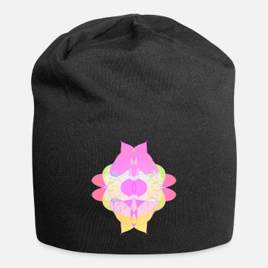 Abstract Flower of Passion and Love Abstract Design Art - Beanie