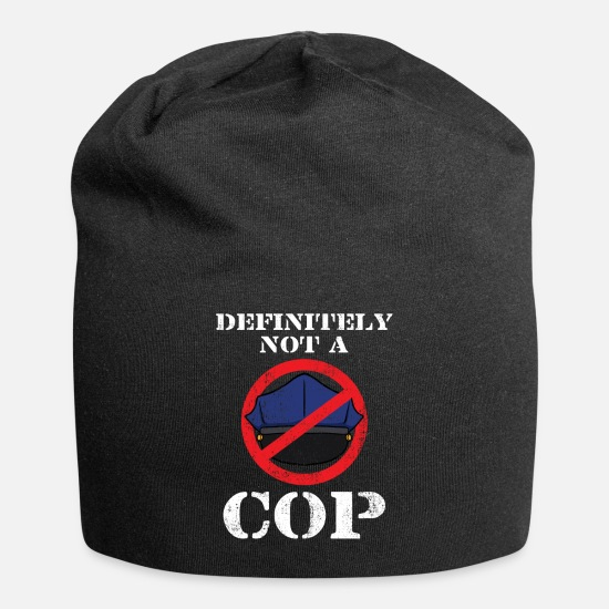 Gift Idea Caps - Definitely Not A Cop - Beanie black