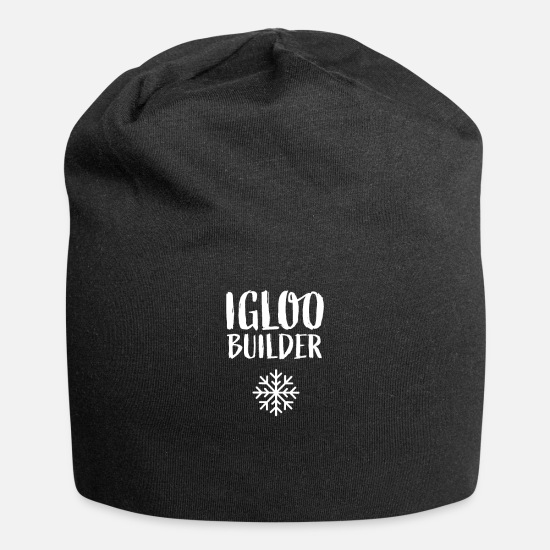 Winter Caps - Igloos Eskimo Winter Snow House Igloo Building - Beanie black