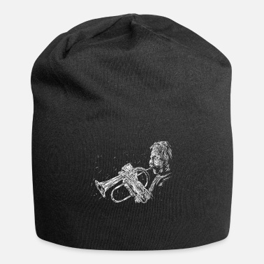Abstract Music Playing Instrument Abstract Saxophone Music Gift - Beanie