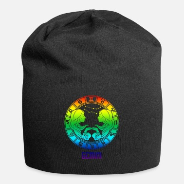Chinese Symbols Gemini Zodiac Sign Symbol Stars May June Birthday - Beanie