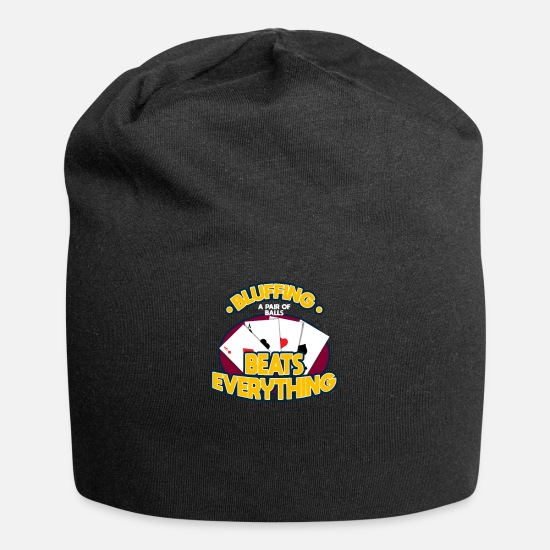 Cards Caps - Bluffing A Pair Of Balls Beats Everything - Beanie black