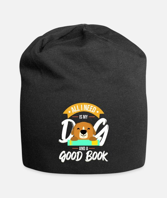 Read Caps & Hats - All I Need Is My Dog And A Good Book - Beanie black