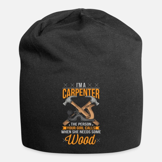 Carpenter Caps - Funny Woodworking Carpenter Gift - Beanie black