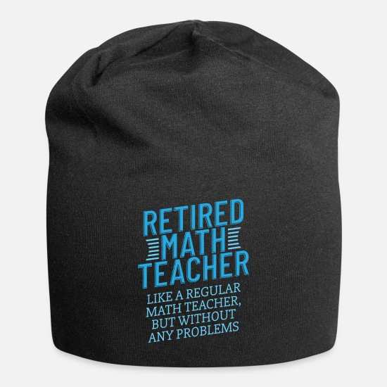 Mathematics Caps - Retired Math Teacher Gift Funny Retirement Math - Beanie black