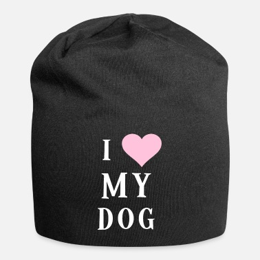 Heart I Love My Dog Heart Dogs Sweet - Beanie