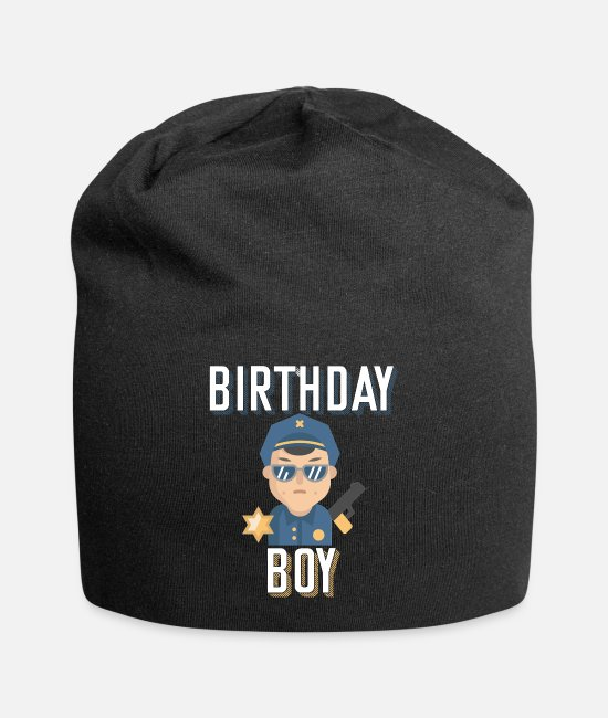 Years Caps & Hats - Birthday Policeman - Beanie black