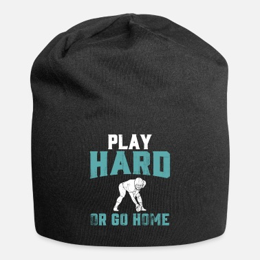 Play american football player play hard - Beanie