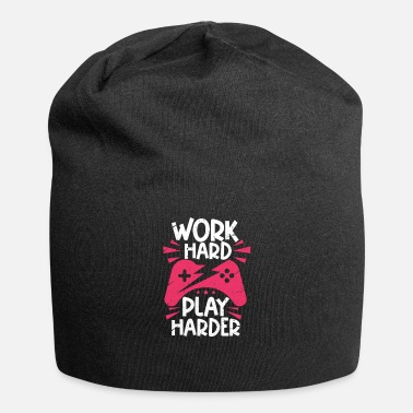 Online Gaming Work Hard Play Harder - Beanie