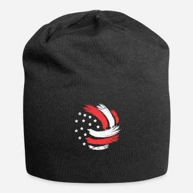 Net Volleyball USA Flag - Beanie