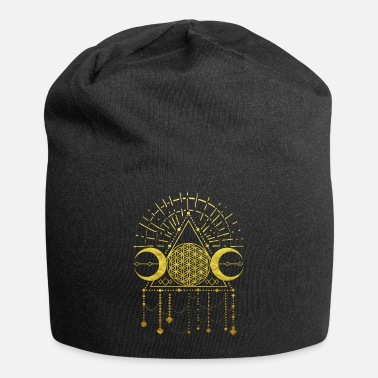 Ornament flower of life shaman geometry symbol gold - Beanie