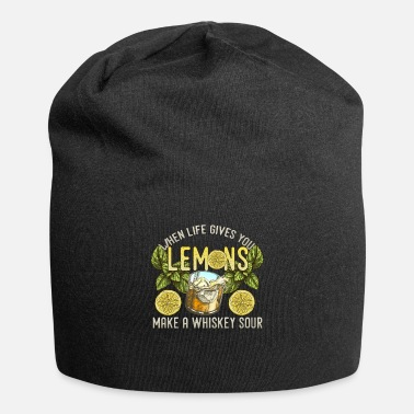Sour Whiskey Sour Bourbon Cocktail Lovers Drinking Gift - Beanie