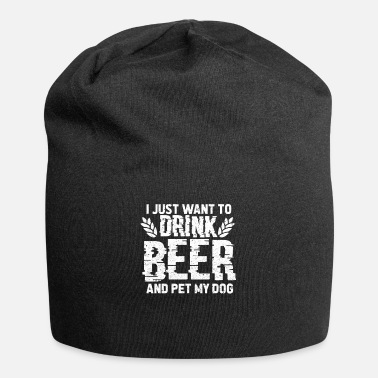 Training I Just Want To Drink Beer And Pet My Dog Vintage - Beanie