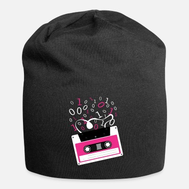 Rectangle Cassette tape Rectangle M Pattern Rectangle - Beanie