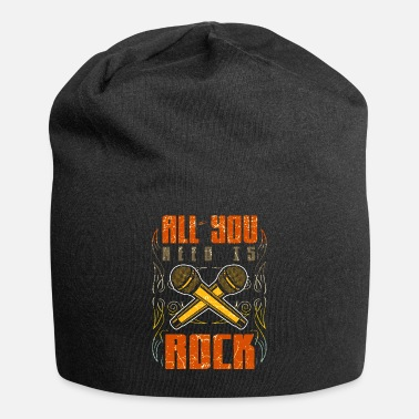 Instrument Rock Vintage Rock and Roll Music Guitar Gift - Beanie