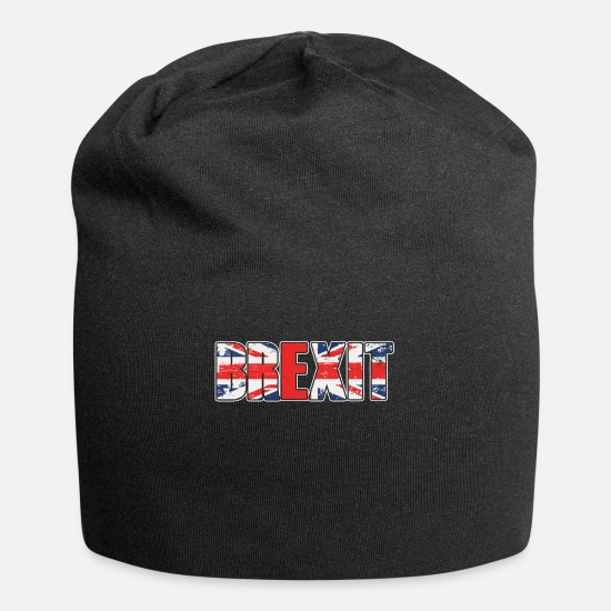 Country Caps - UK Flag Brexit British Flag UK Europe Exit Gift - Beanie black