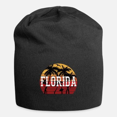 Caribbean Florida Palm Tree Holiday Motif Gift Idea Design - Beanie