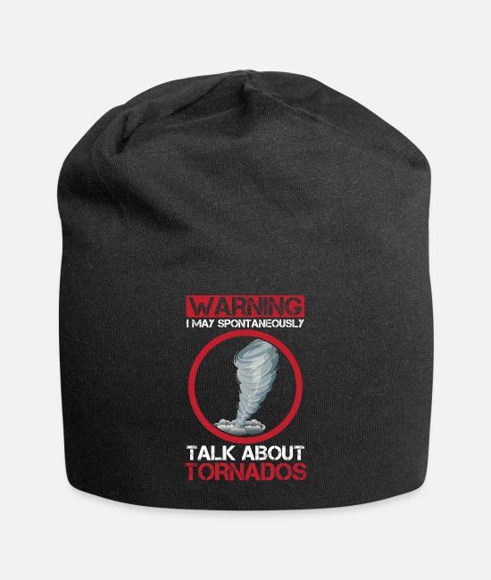 Weather Caps & Hats - Storm Chaser cyclone hurricane Hunter Weather - Beanie black