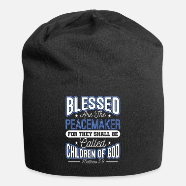 Sheriff Blessed Are The Peacemakers Police Officer Cop - Beanie
