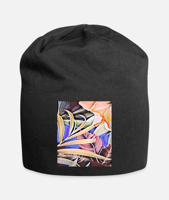 Flowers Caps - Tulip leaves - Beanie black
