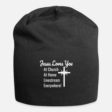Fun Jesus Loves You At Church At Home Livestream - Beanie