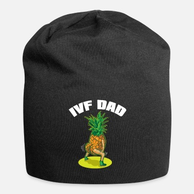 Pregnancy IVF Gift Warrior Dad Dads Pineapple Transfer Day - Beanie