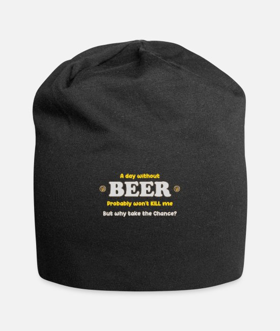 Brewery Caps & Hats - Life Is Beertiful - Brewery and Craft Beer Lovers - Beanie black