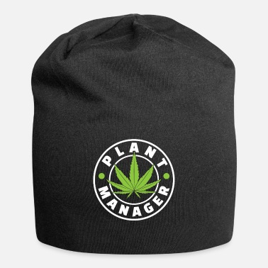 Grass Plant Manager Marijuana For Chiller Of Weed And - Beanie