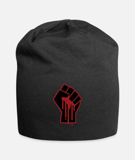 Black Power Caps & Hats - Black Lives Matter - Protest Social Injustice - Beanie black